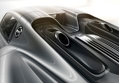 #Porsche #918Spyder: The two top pipes from the world of motorsport cause a stir in three different ways: technically, visually and acoustically. Learn more: http://link.porsche.com/918?pc=918XXPINGA Combined fuel consumption in accordance with EU 5: 3.3-3.0 l/100 km, CO2 emissions 79-70 g/km. Electricity consumption 12.5-13.0 kWh/100 km.