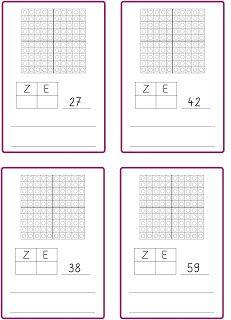 Zahlen bis 100 im Hunderterfeld darstellen Represent numbers up to 100 in the hundreds field Math 2, Fun Math Games, 2nd Grade Math, Second Grade, School Of Rock, Back To School, Kindergarten Portfolio, Montessori Education, Practical Life