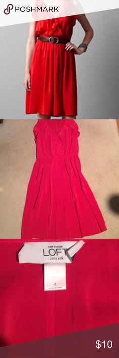 Loft Red Dress This dress is in perfect condition! LOFT Dresses Midi