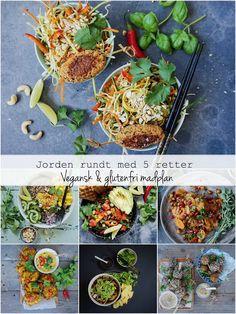 Vanløse blues.....: JORDEN RUNDT MED 5 RETTER - Vegansk og glutenfri madplan