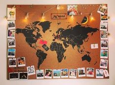 Miss Wood map misswood.es - Home Page Map Bedroom, Bedroom Decor, Wall Decor, Bedroom Ideas, Miss Wood, Photo Polaroid, World Map Decor, Photo Deco, Travel Wall