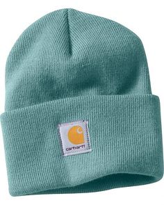 f244c9ca30ee0 Carhartt Women s Acrylic Watch Hat teal Knit Beanie Hat