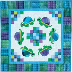 Totally Turtles Quilt Pattern TWW-0366 (advanced beginner, baby, wall hanging)