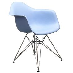 The Pasadena Arm Chair features a molded ABS plastic seat in a variety of colors with a chrome wire base and non-marking feet. $119.00