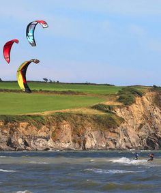 The strong winds that batter Ireland mean it's often perfect weather for kite-surfing.