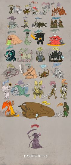 All the bosses of a real good game, Dark Souls 2 pre-DLC. Quite accurate. Hehe. Yes.