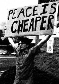 Human lives gone or changed forever, shattered families, ravaged lands, and squandered resources are among the high costs of war. Keep the goal of peace in mind when you vote.
