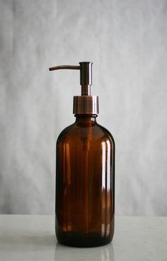 Market Amber Glass Soap Dispenser - Rail19 www.rail19.com