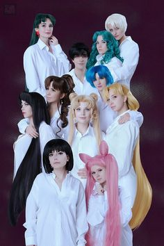 Sailor Moon cosplay based on a manga art book illustration