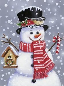 Snowman With Tophat By William Vanderdasson Canvas Art - Multi Silver Christmas Decorations, Christmas Signs Wood, Diy Christmas Ornaments, Christmas Snowman, Christmas Clock, Holiday Crafts, Holiday Decor, Decoupage, Christmas Crafts
