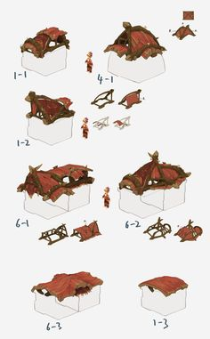 some funny houses .designed for a game.