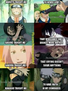 Naruto Shippuden | Also, another for Sakura could be that weakness is a choice or something like that...