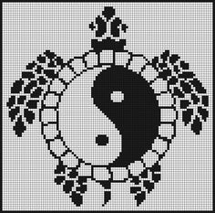 free chart ying yang turtle