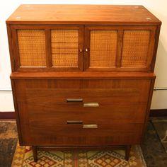 mid century modern cane and walnut american of martinsville chest image 8 mid century dresser