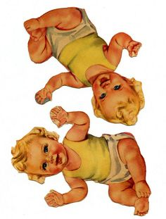 """Beautiful Art by Louise Rumely. Part of the """"Heavenly Twins and Their Guardian Angels"""" (1948) which I believe was also called """"Angel Babies"""" at one time."""