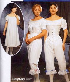 12 14 20 Victorian Chemise Corset Costume PATTERN Simplicity 9769