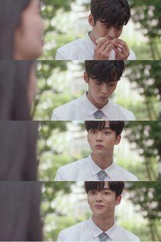 Haru is the best boi (Drama: Extraordinary You Cast: Kim Hye-yoon as Eun Dan-oh, Kim Ro-woon as Number 13 / Ha-ru, Lee Jae-wook as Baek Kyung, Jung Gun-joo as Lee Do-hwa) Asian Actors, Korean Actors, Korean Drama Movies, Aesthetic Pastel Wallpaper, Series Movies, Tumblr, Kdrama, Hot Guys, Dan