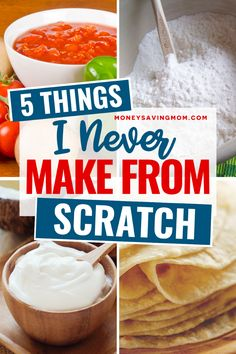 Here is a kitchen hack worth implementing - save your time and don't bother making these 5 items from scratch! #kitchenhack #makefromscratch #timemanagement