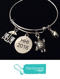 HHI 2016 Hilton Head Turtle Expandable Silver Charm Bracelet Ocean Nautical Adjustable Wire Bangle Gift from Jules Obsession http://www.amazon.com/dp/B01GKODEAM/ref=hnd_sw_r_pi_dp_sfSuxb110T6WA #handmadeatamazon