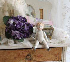 少年ビスクドール - O BEL INVENTAIRE*アンヴァンテール*French Antique Shop Sweet Violets, Blog Entry, Violets
