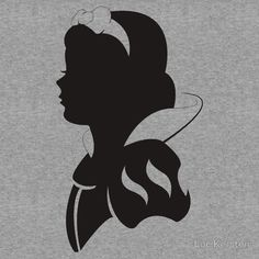 snow white silhouette printable - Google Search