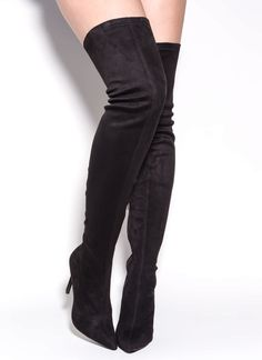 Long Story Chic Thigh-High Boots BLACK $50 http://www.gojane.com/111168.html