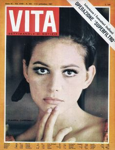 Claudia Cardinale on the Cover of Vita.