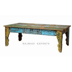 Multi Colour Atractive Modern Style Reclaimed Burn Wood Rustic Art Design Cofffee Table - Rajwadi Exports RAJWADI EXPORTS (A Government of India Recognized Furniture Export House) Mobile: +91-977 2222 479 Email: info@rajwadiexports.com.