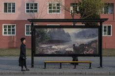 Behold North Korea's Bizarrely Majestic Bus Stops http://news.nationalgeographic.com/2017/04/north-koreans-bus-stops-photography/