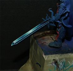 Eureka! miniature painting: Sword painting Non Metallic Metal