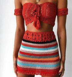 42 Free Boho Summer Top Crochet Patterns 2019 - Page 36 of 42 - womenselegance. com 42 Free Boho Summer Top Crochet Patterns 2019 - Page 36 of 42 - womenselegance. Crochet Summer Tops, Crochet Crop Top, Crochet Tops, Crochet Patterns Free Tops, Free Pattern, Crochet Skirts, Crocheting Patterns, Knit Tops, Haut Bikini