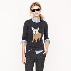 frenchie sweater from jcrew, toooooo cute!
