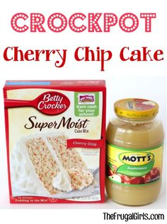 Crockpot Cherry Chip Cake Recipe! ~ from TheFrugalGirls.com ~ who says you can't make a delicious cake right in your Slow Cooker? It's SO easy and moist!