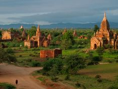Old Bagan by the Ayerwaddy, Myanmar.  Photo by National Geographic