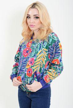 Vintage floral sweatshirt. http://dressedvintage.com/shop/clothing/tops/jungle-sweat-jacket/
