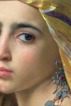'Girl with a Pomegranate' (detail), artist, William-Adolphe Bouguereau, 1875.