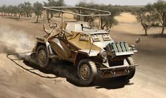 1941 SdKfz 221 in North Africa DAK
