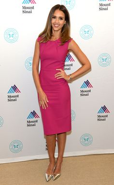 Jessica Alba from The Best of the Red Carpet  Does she ever miss a beat? Jessica wows once again in a magenta Roland Mouret frock.