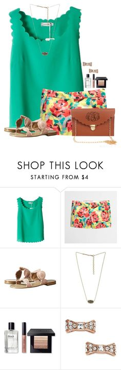 """""""~Beauty begins the moment you decide to be YOU~"""" by flroasburn ❤ liked on Polyvore featuring Jack Rogers, Kendra Scott, Bobbi Brown Cosmetics and Kate Spade"""