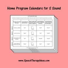 Home Program Calendars for S Sound