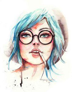 aquarela-ilustração-menina