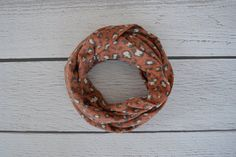 Rust Muted Cheetah Toddler and Child Infinity Scarf