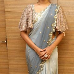 Looking for blouse designs photos? Here are our picks of 30 trending saree blouse models that will blow your mind. Saree Jacket Designs, Netted Blouse Designs, Saree Blouse Neck Designs, Fancy Blouse Designs, Bridal Blouse Designs, Stylish Blouse Design, Stylish Dress Designs, Chandigarh, Sari Design