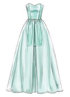 ideas sewing illustration fashion design dress patterns for 2019 Dress Design Drawing, Dress Design Sketches, Dress Drawing, Fashion Design Drawings, Drawing Clothes, Fashion Sketches, Dress Designs, Dress Illustration, Illustration Fashion