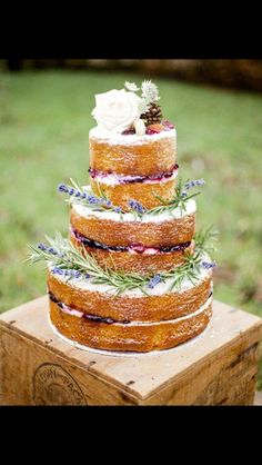B E A U T I F U L  Naked Wedding Cake