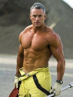 Image result for Older Man Fireman Sexy