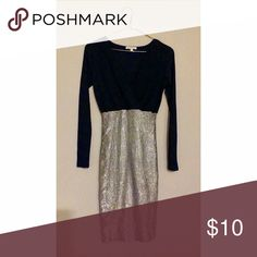 Charlotte Russe Navy Midi Dress Beautiful dress only worn once!! Navy v-neck featuring a midi skirt! Charlotte Russe Dresses Midi