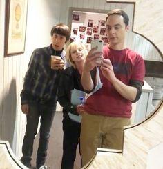 Howard, Bernadette and Sheldon. The Big Bang Theory