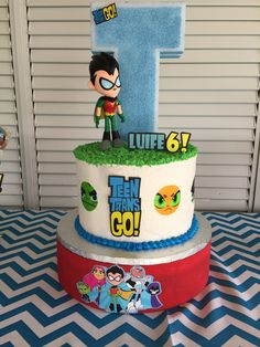 Teen Titans Go Birthday Cake Teen Titans Cyborg, Teen Titans Go, Fourth Birthday, Birthday Parties, Birthday Cake, Beanie Boo Birthdays, Minecraft Party Decorations, Diy Party, Party Ideas