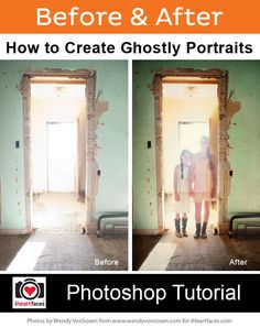 How to Create a Ghostly Portrait in Photoshop - http://www.iheartfaces.com/2013/10/how-to-create-a-ghostly-portrait-in-photoshop/